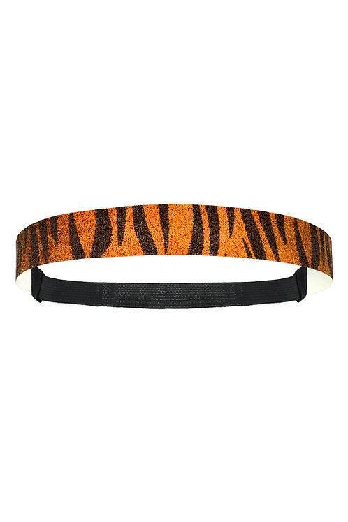 12-Pack Glitter Headband Tiger Black & Orange