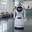 Robot de service Cruzr version Epidémique qui se déplace