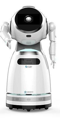 Robot compagnon CRUZR de face qui veut serrer la main