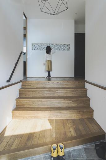 豊浦町 階段のある玄関