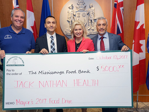 Jack Nathan Health Donates $5,000 to Mayor's City-Wide Food Drive