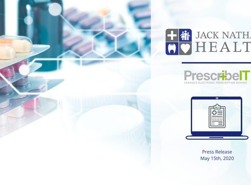 Jack Nathan Health® announces the launch of new digital prescription service with PrescribeIT®