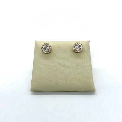 Cluster Diamond Earrings 0.67ctw