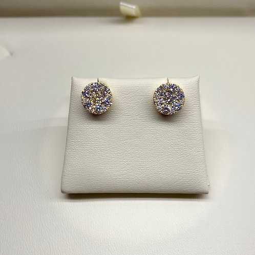 Cluster Set Diamond Earrings