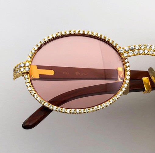 CUSTOM VINTAGE DIAMOND CARTIER FRAMES