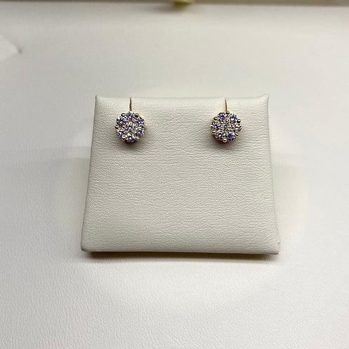 Flower Set Diamond Earrings
