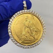 CUSTOM DIAMOND 24KT COIN