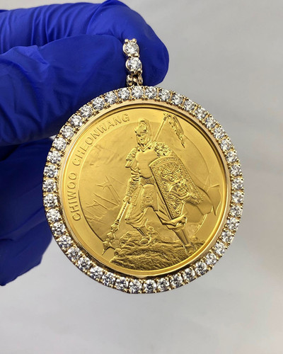 CUSTOM DIAMOND 24KT COIN