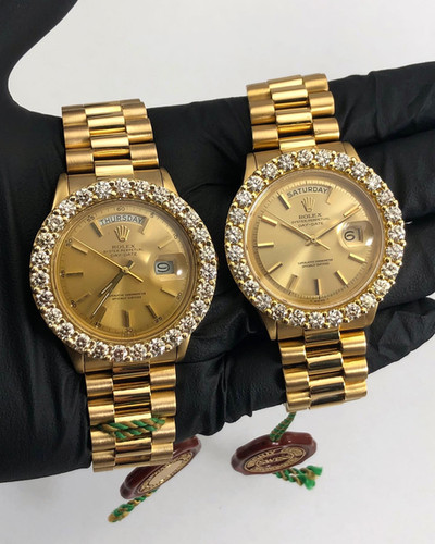 CUSTOM DIAMOND PRESIDENTIAL ROLEX WATCHES