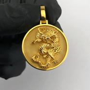 CUSTOM 24KT GOLD PENDANT