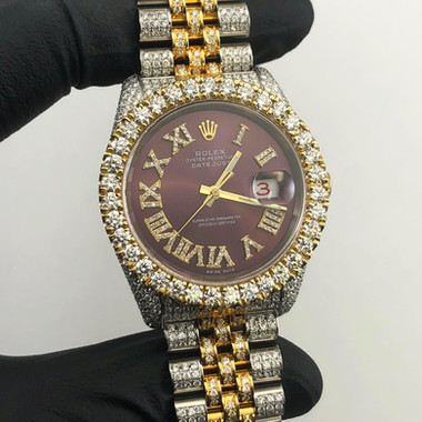 CUSTOM DIAMOND DATEJUST ROLEX