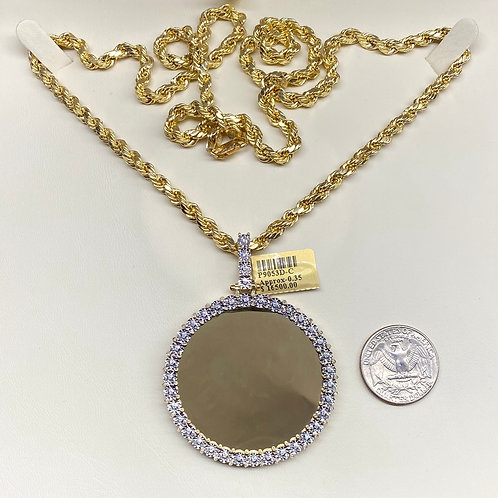 Picture Pendant 52mm w/ Rope Necklace