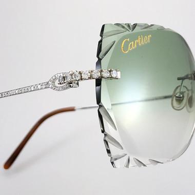 CUSTOM DIAMOND CARTIER FRAMES