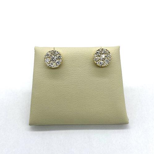 Cluster Diamond Earrings 0.91ctw