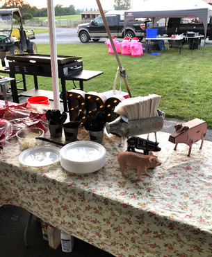 The pigs are out for a family reunion in Greenville, NY