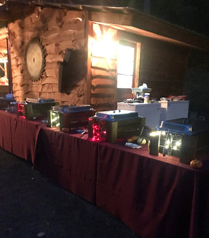 Entree station for a wedding in Selkirk, NY