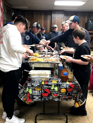 East Greenbush firefighters chowing down