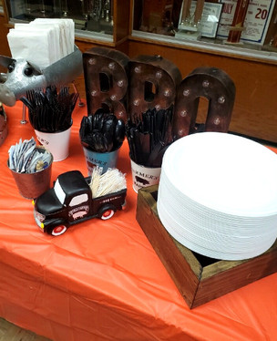 Table setup for the East Greenbush Fire Department