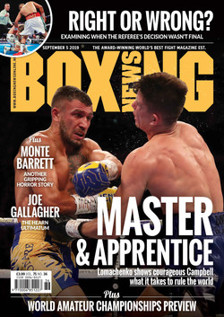 Boxing News Cover Sept 05 2019