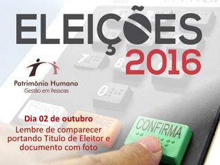 Eleições 2016 - Dia 02 de outubro