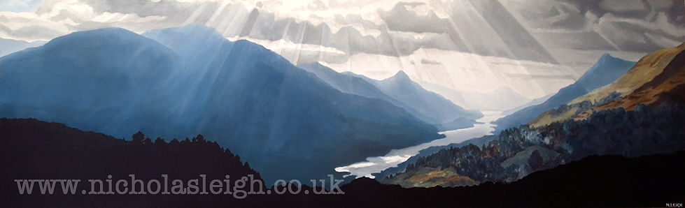 Kinloch Leven Oil Painting