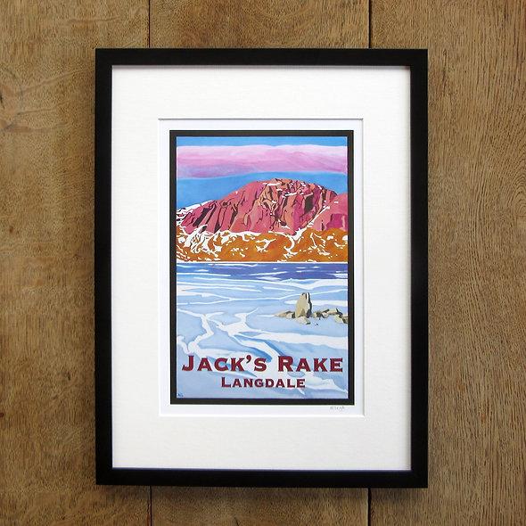 Jack's Rake Framed Print