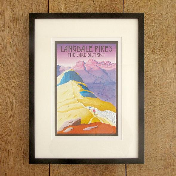 Langdale Pikes framed Print