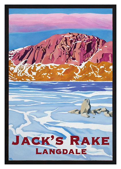 Jack's Rake Greeting Card