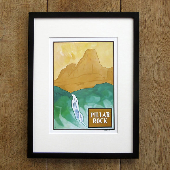 Pillar Rock Framed Print