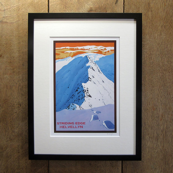 Striding Edge Framed Print