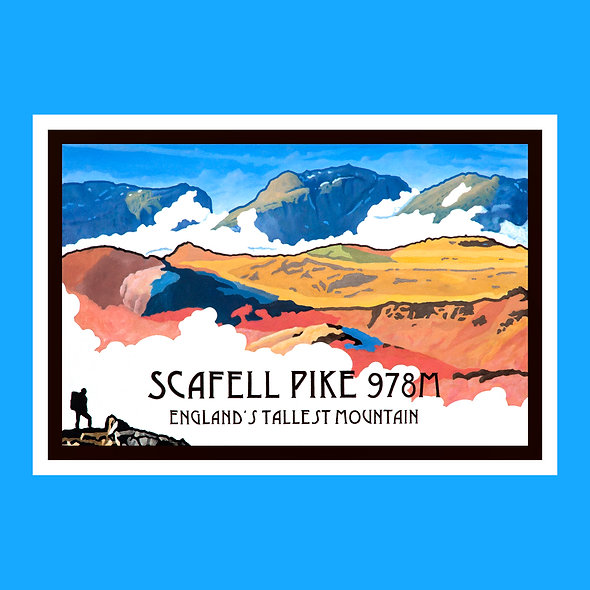 Scafell Pike Greeting Card