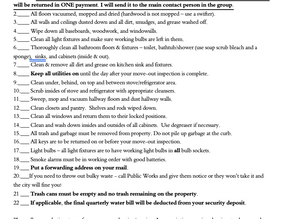 Move Out Checklist for Landlords and Tenants