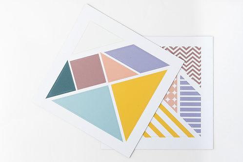FERFLEX - Puzzle magnétique Tangram Pastel