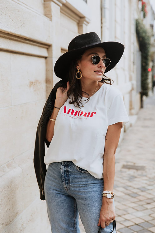 FRENCH MUSES - T-shirt d'allaitement Amour inconditionnelle