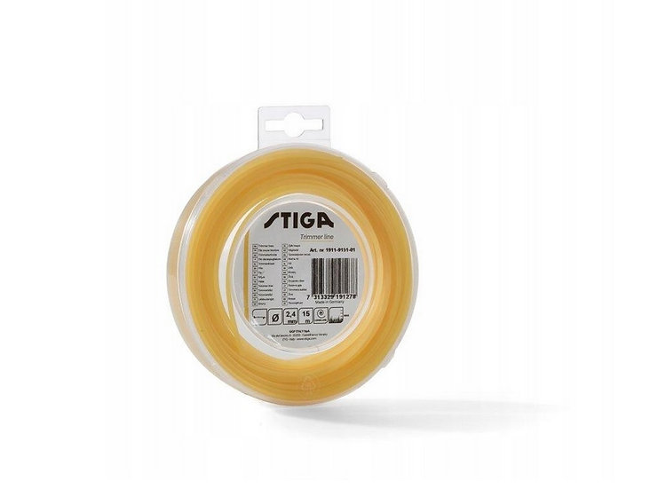 Żyłka tnąca O. Stiga 2,0/15M (Yellow)