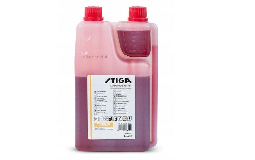 Olej 2T czerwony 1L Syntetic dozownik