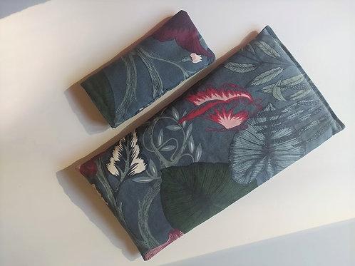 Kit rilassante: cuscino noccioli di ciliegia + cuscino semi di lino e lavanda