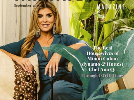 MIAMIVIBES MAGAZINE FEATURES ANA QUINCOCES ON SEPTEMBER COVER