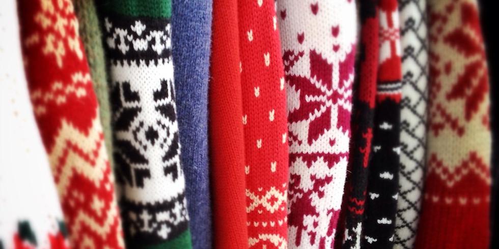 Tacky Holiday Sweater Creating