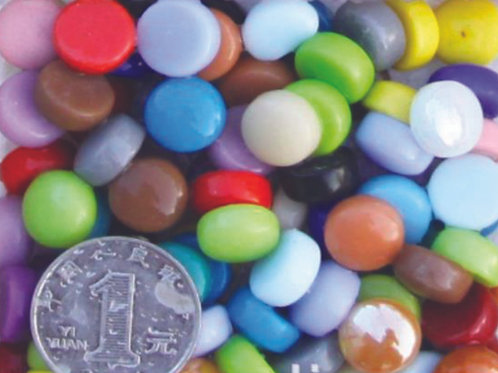 אבני פסיפס עגולים קוטר 12 צבעים שונים 250 גרם