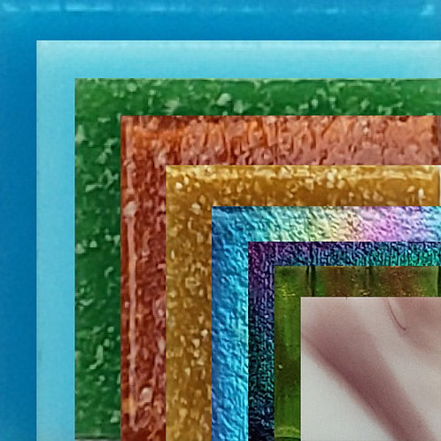 זכוכית 20*20*4 , 800  גרם  , 39  צבעים