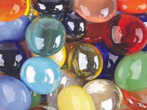 אבני זכוכית שקופים נגטס בינוניים 400 גרם