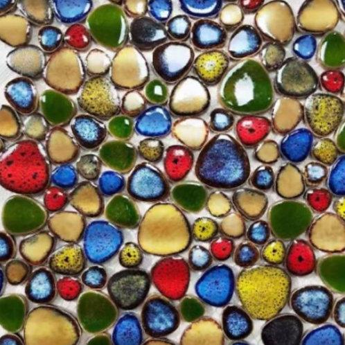 משטח טיפות זהב, ירוק, אדום וכחול