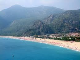 Beach on the coast of Patara, Turkey.