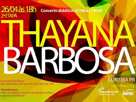 Thayana Barbosa | SESC Pato Branco PR
