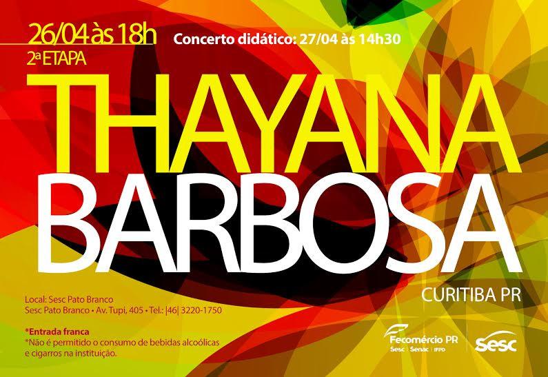 Show do CD Mar de Dentro no projeto Aldeia Musical do SESC de Pato Branco PR.