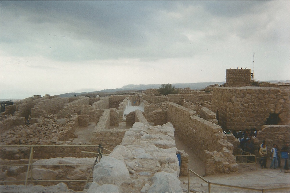 Some of the ruins of Masada
