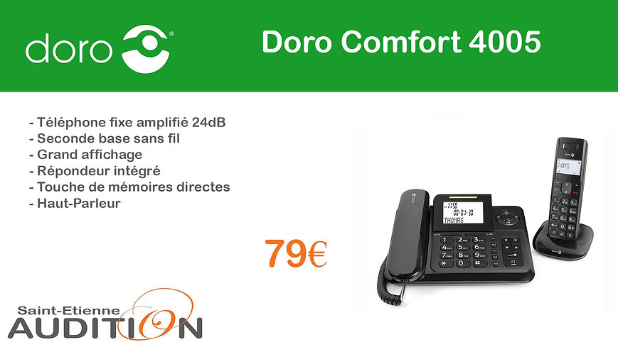 Doro Comfort 4005 Saint Etienne Audition