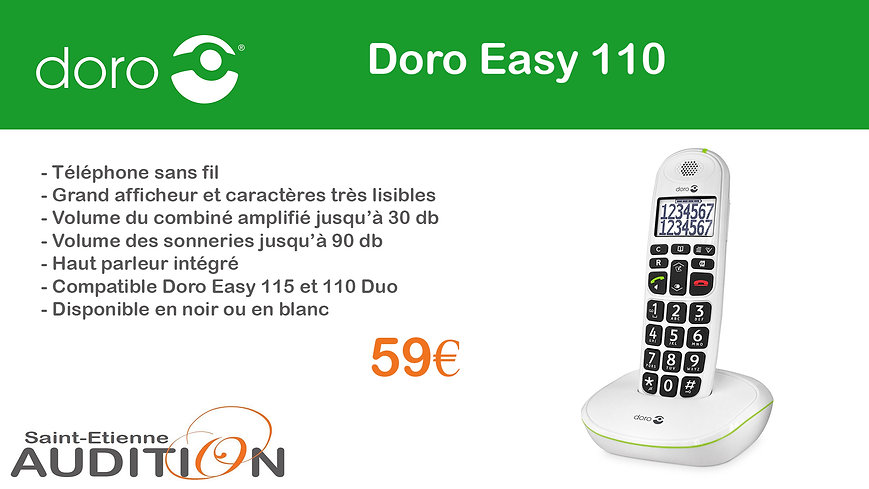 Doro Easy 110 Saint Etienne Audition