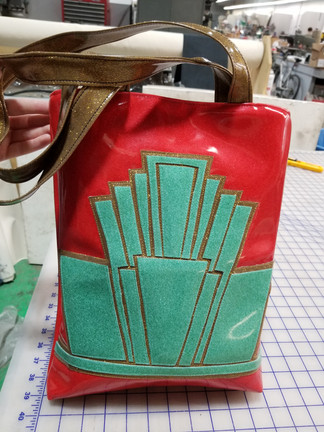 Art Deco Metal Flake Bag